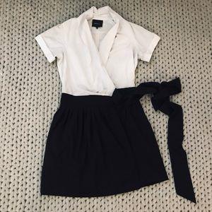 Ark & Co. Black and White Wrap Dress